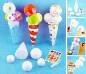 Mainan Edukasi Mewarnai Ice Cream Cone