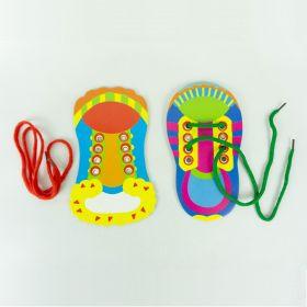 Mainan Edukasi Belajar Ikat Tali Sepatu Colouring & Tieing Shoe Lace (sold per pcs)