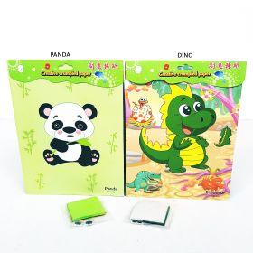 Mainan kerajinan anak tempelan kertas